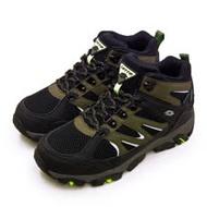 【男】LOTTO 專業多功能防水郊山戶外健行登山鞋 SABRE MID 3系列 黑軍綠 1255