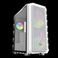 AIR X 獨特鑽石網孔 緊湊型 ATX 機殼 白 電腦機殼 PC機殼 電競機殼 電腦機箱【迪特軍】
