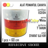 Reflective Sticker Reflective Sticker Reflective Light Reflector Tool 60cm Exam KIR Dishub Scotlight