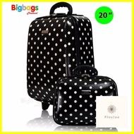 กระเป๋าเดินทาง ร้านแนะนำWheal กระเป๋าเดินทาง ล้อลาก เซ็ทคู่ 20 นิ้ว/14 นิ้ว รุ่น Big Spot F7719 (Black)