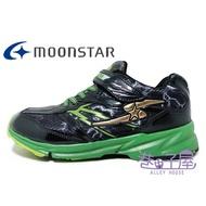 【滿額領券↘折$120】Moonstar月星 童款SUPERSTAR系列健康機能運動鞋 [7856] 黑綠【巷子屋】