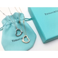 Tiffany&Co 愛心項鍊 S925銀電鍍白金 電鍍玫瑰金