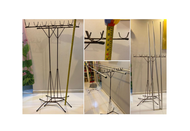 Clothes Hanging Bamboo Stand #Drying rack #7ft Aluminium pole