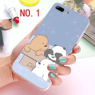 Cartoon We Bare Bears Panda Grizzly Ice Bear Phone Case for Iphone 8 Plus Case iphoneXS MAX and Sams