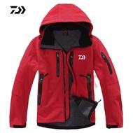 戶外防水抓絨保暖登山釣魚服 保暖運動服 連帽軟殼釣魚服 釣魚外套 DAIWA2019新款釣魚服 休閒外套