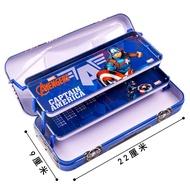 迪士尼兒童鐵筆盒 小學生多層文具盒男生汽車造型多層多功能鉛筆盒