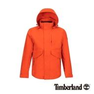Timberland 男款亮橘色連帽防水三合一外套 A1WSZ
