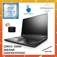 LENOVO THINKPAD YOGA 12 LAPTOP [360 FLIP / TOUCHSCREEN / FHD / INTEL CORE i5-5300U / 8GB DDR3 RAM / 256GB SSD STORAGE / WINDOW 10 PRO / FREE BAG / laptop for student / home / office]