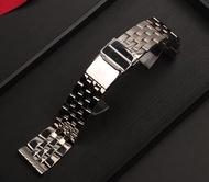 สายนาฬิกาแบรนด์20มม.22มม.24สเตนเลสสตีลสร้อยข้อมือสำหรับ Breitling สายรัดนาฬิกาสำหรับ AVENGER NAVITIMER SUPEROCEAN