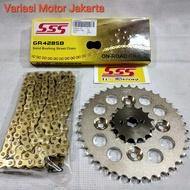 gear set SSS Supra X 125 Kharisma 125