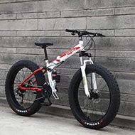 Mountain Bikes, 20Inch Fat Tire Hardtail Men's Mountain Bike, Dual Frame And Fork All Terrain Mountain Bicycle Adult