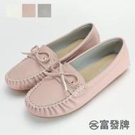 【FUFA Shoes 富發牌】蝴蝶結質感莫卡辛鞋-粉  R25