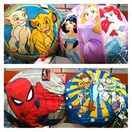 卡通大型圓靠墊 66*66cm 迪士尼公主 獅子王 蜘蛛人 玩具總動員 坐枕 抬腳枕 靠墊 / COSTCO 好市多代購