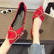 ✨✨รองเท้าคัชชู รองเท้าส้นเตี้ย รองเท้าส้นแบน รองเท้าผู้หญิง รองเท้าทำงาน✨✨