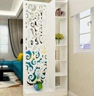 歐式屏風隔斷玄關櫃鏤空雕花簡約現代門廳隔斷櫃客廳白色展示酒櫃MBS「時尚彩虹屋」