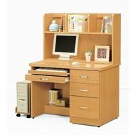 【H&D】貝莎3.5尺檜木色電腦桌(全組)