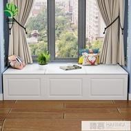 臥室飄窗櫃儲物櫃防曬窗邊櫃歐式矮櫃地櫃陽台收納置物櫃訂製