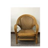 中古休閑椅 二手藤椅 單人小藤椅 附贈這張藤椅的桌子商品過大建議面交
