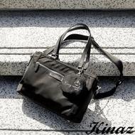 【KINAZ】拉桿插袋多層防潑水斜背肩背托特包-國王系列