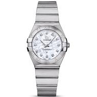 OMEGA 歐米茄星座系列珍珠母貝鑽石面石英腕錶