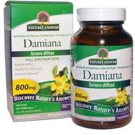 男性精力保養,Nature's Answer,達米阿那葉,800mg,90粒膠囊 Damiana
