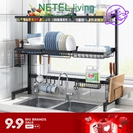 NETEL Dish Rack Over Sink Dish Drying Rack Kitchen Stainless Steel Over The Sink Shelf Storage Rack