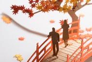 【寺田模型】建築紙模型61 賞楓 楓葉 秋天 手作DIY  交換禮物