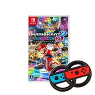 【Nintendo 任天堂】Switch瑪利歐賽車8豪華版+副廠方向盤(國際版)