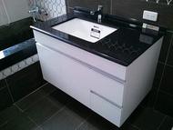 TOTO下崁盆L620K+浴櫃抽屜+人造石+龍頭TWL701