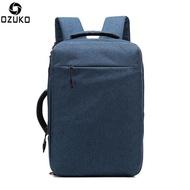"""Ozuko แฟชั่นกระเป๋าเป้สะพายหลังแล็ปท็อปกันน้ำกระเป๋านักเรียน USB พอดีได้ถึง 15.6 """"โน๊ตบุ๊คกระเป๋าเป้สะพายหลังเดินทางแบบสบายๆ"""