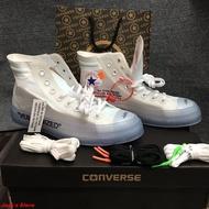 รองเท้าOFF-WHITE X Converse Chuck Taylor 70 รองเท้าแฟชั่น<จัดส่งฟรี>