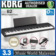 Korg B2 88 Key Digital Piano Weighted Hammer Action with Korg Sustain Pedal Black (B-2 B 2)