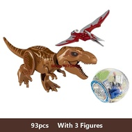 Legoingly Jurassic World Dinosaur Figures Set Tyrannosaurus Building Blocks Toys For Children Compatible LEGOings Jurassic Park