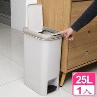 【真心良品】二用腳踏式垃圾桶25L(1入)