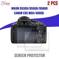 กระจกนิรภัย Nikon D5600/D5500/D5300 Canon Eos M50 Canon Eos 4000D Screen Protector 2 Pcs Caravan Crew Film Tempered Glass ฟิล์มกระจกนิรภัยเกรดพรีเมี่ยม ความแข็งระดับ 9H สัมผัสลื่นตอบสนองไว กันน้ำ จำนวน 2 ชิ้น