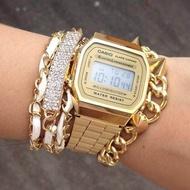 Casio นาฬิกาข้อมือผู้หญิง สายสแตนเลส Stainless Steel A168