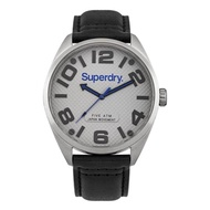 Superdry Military SYG192BS Analog Quartz Black Leather Mens Watch