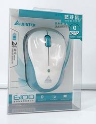 WiNTEK 文鎧 6100 藍芽無線滑鼠第三代 黑色 白色 藍芽傳輸 送電池