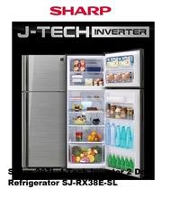 Sharp 287L J-Tech Inverter 2 Door Refrigerator SJ-RX38E-SL