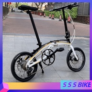 Gaotelu Foldable Bicycle 20-inch 9-speed Variable Speed 451 Disc Brake Bicycle Aluminum Alloy Frame Ultralight Folding Bicycle