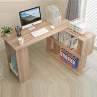【H&C 多功能轉角書桌】快速組裝/左右互換/桌下書架/加厚板材(電腦桌/辦公桌/書桌/桌子/兒童桌/工作桌)