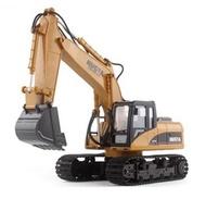 電動挖掘機玩具遙控挖掘機大號合金充電動無線挖土機 全館免運LX 聖誕節禮物