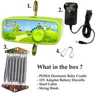 Poma/Powin Buaian Elektrik Motor Mesin Buai Electronic Baby Cradle