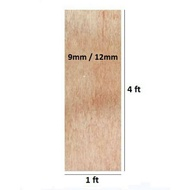 [1ft x 4ft] Papan Plywood / Solid Plywood 9mm 12mm