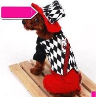 【寵物服裝-魔術師變身裝-秋冬-4規格可選】寵物狗狗貓咪衣服 送帽子  ,規格:S/M/L/XL(請對照尺碼說明)-79011