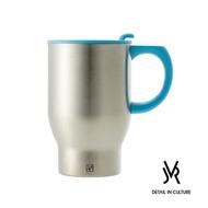 【索樂生活】JVR韓國原裝AUTO MUG不鏽鋼車用馬克杯390ml(雙層保溫附蓋隨行環保隨手咖啡杯)