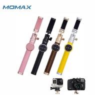 【Momax】藍牙皮革自拍桿-90cm(金屬CNC雲台/自拍棒/藍牙遙控器)