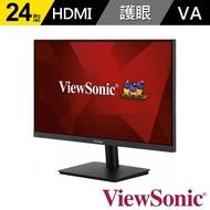 【ViewSonic 優派】VA2406-MH 24 吋 Full HD 2W雙喇叭 電腦螢幕(16:9/VA/60Hz/HDMI/VGA)