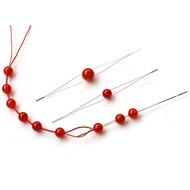 【非織不可】開口針 串珠針 中間開口針 大眼針 不鏽鋼穿珠針 引針 DIY串珠神器