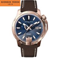 Giorgio Fedon 喬治菲登1919 TIMELESS VIII永恆系列運動版機械錶 GFCI006 藍x玫瑰金/45mm